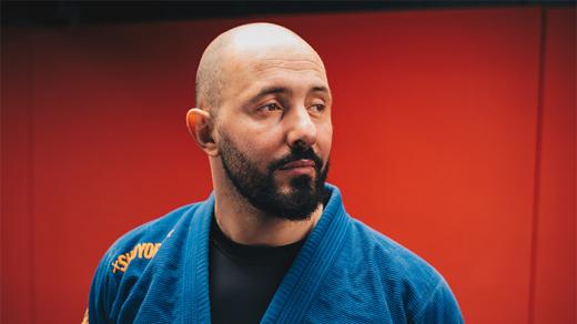 Mourad Benghoune, champion de France de grappling.